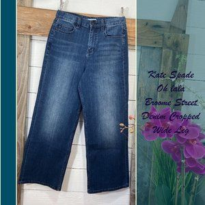 NWT Kate Spade Cropped Wide Leg Denim. Broome Stre